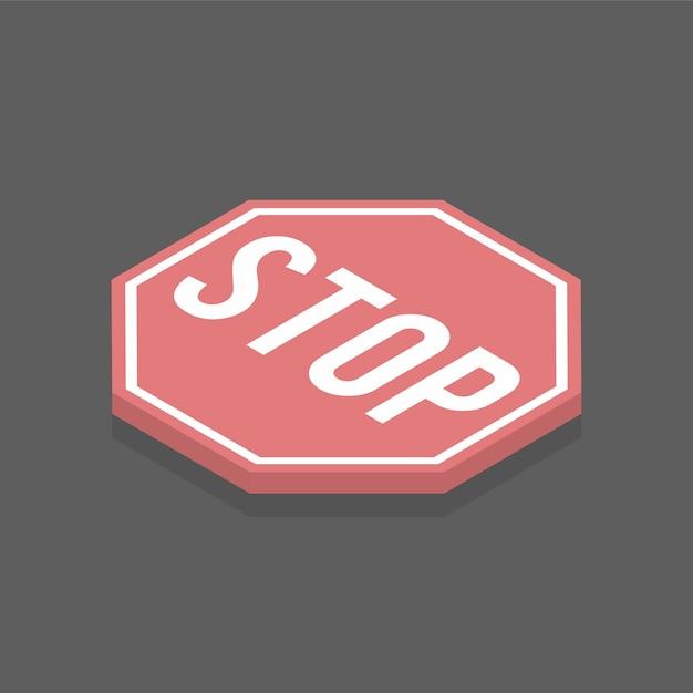 Stopteken Gratis Vector