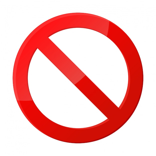 Stoptekenpictogram meldingen die niets doen. Premium Vector