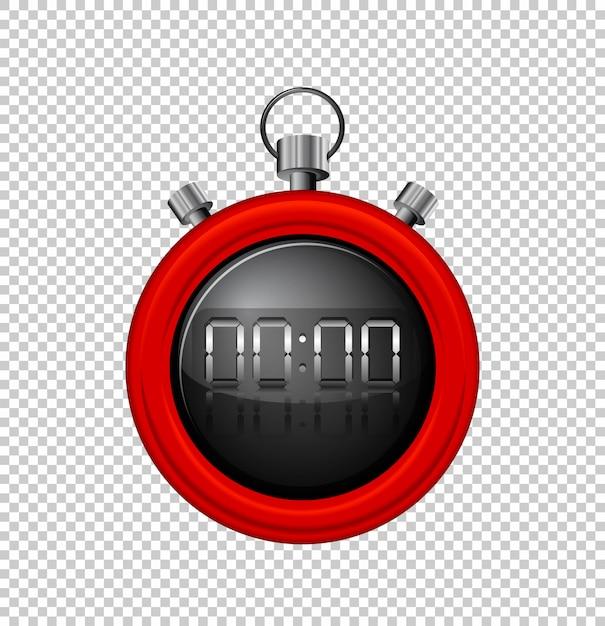 Stopwatch met rode rand Gratis Vector