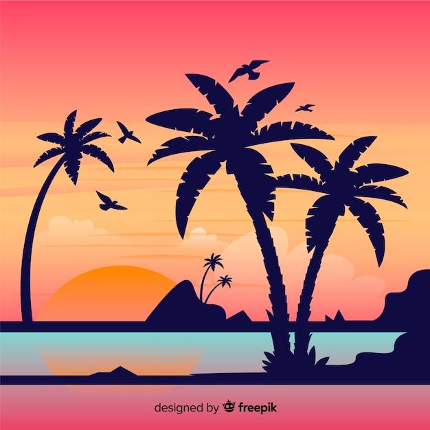 Strand achtergrond Gratis Vector