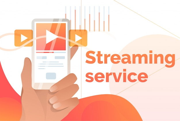 Streaming service poster sjabloon Gratis Vector