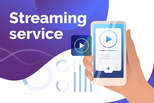 Streaming service presentatie dia sjabloon Gratis Vector