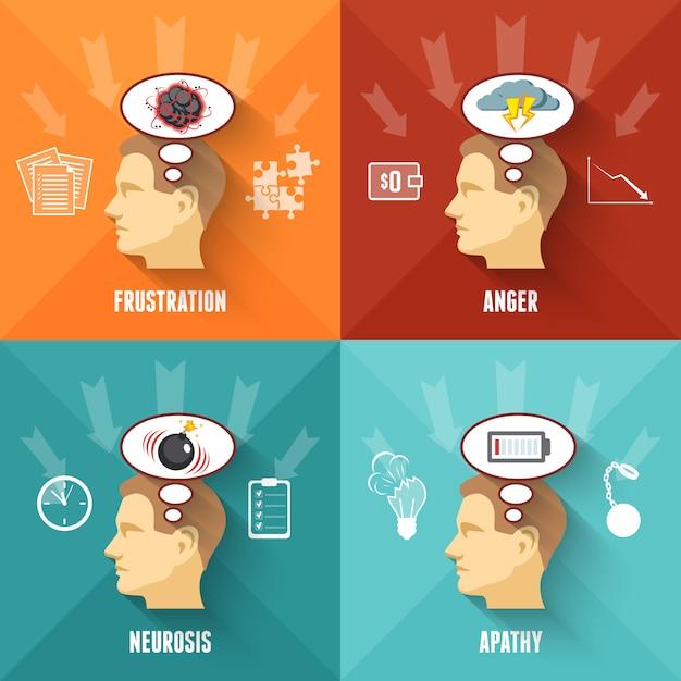 Stress concept Gratis Vector