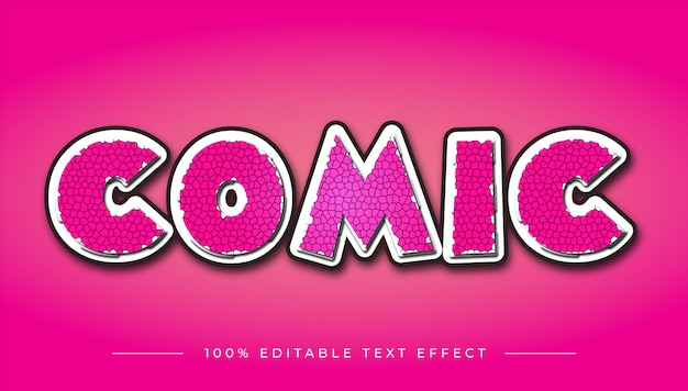 Strip cartoon teksteffect Premium Vector