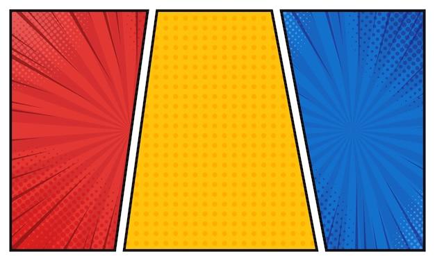Stripboek in verschillende kleuren Premium Vector