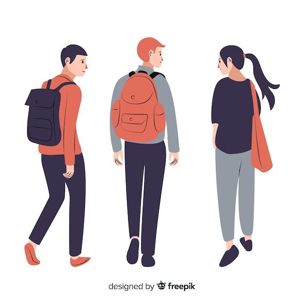 Studente aan de universiteit Gratis Vector