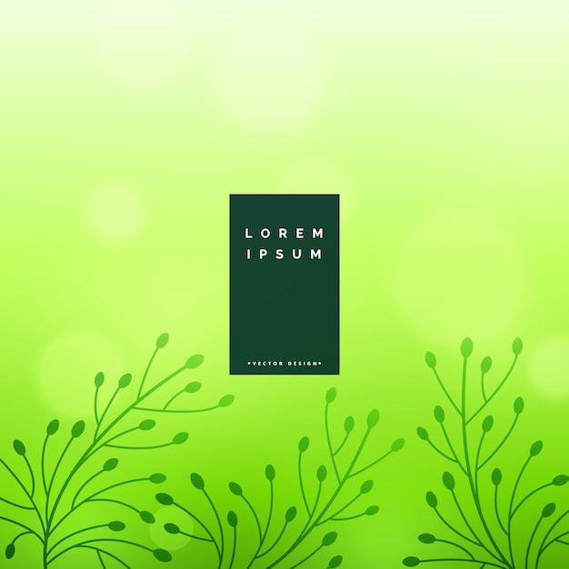 Subtiele groene bloemenblaadjesachtergrond Gratis Vector