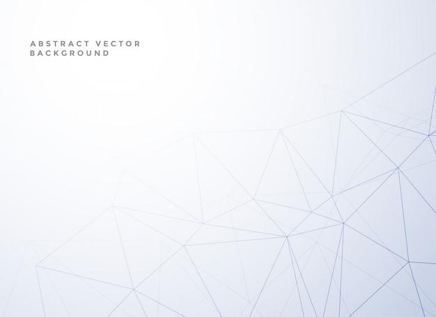 Subtiele laag poly lijnstijl witte achtergrond Gratis Vector