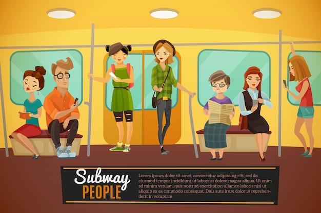 Subway achtergrond illustratie Gratis Vector