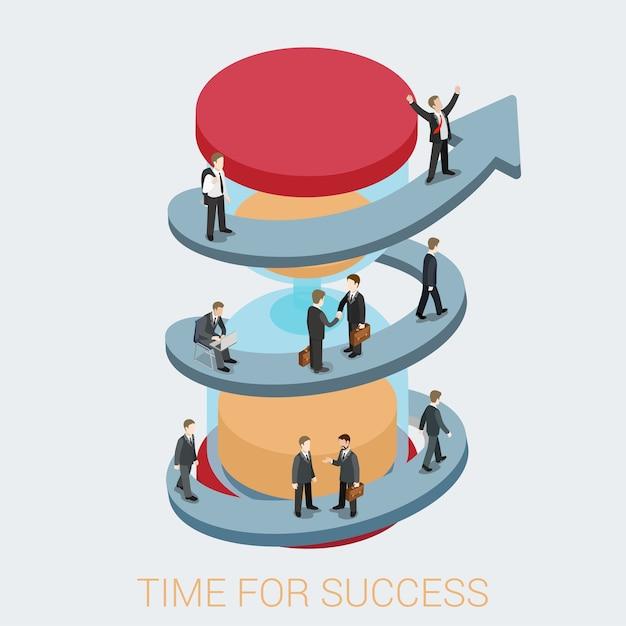 Succes in zakelijke illustratie Gratis Vector