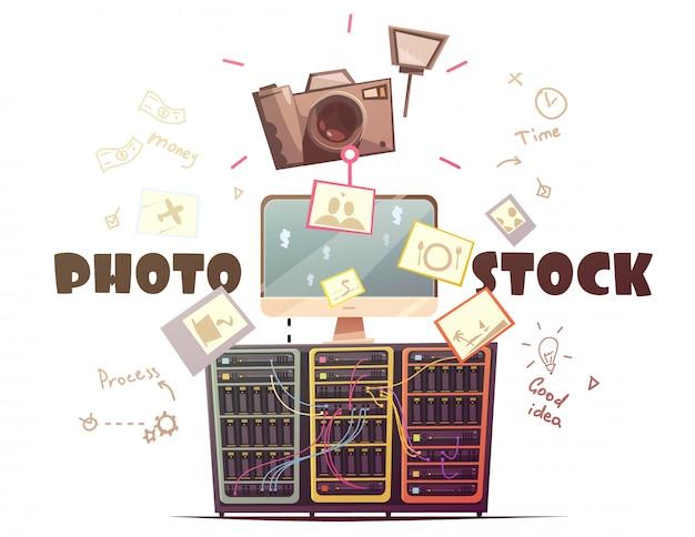 Succesvolle fotoleveranciers van hoge kwaliteit aan effectenbureaus Gratis Vector