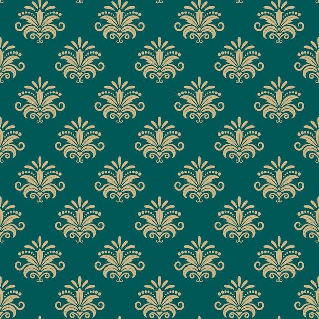 Sultan oost-naadloze patroon, vector oost-bloemen achtergrond Gratis Vector