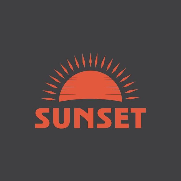 Sunset logo sjabloon Premium Vector