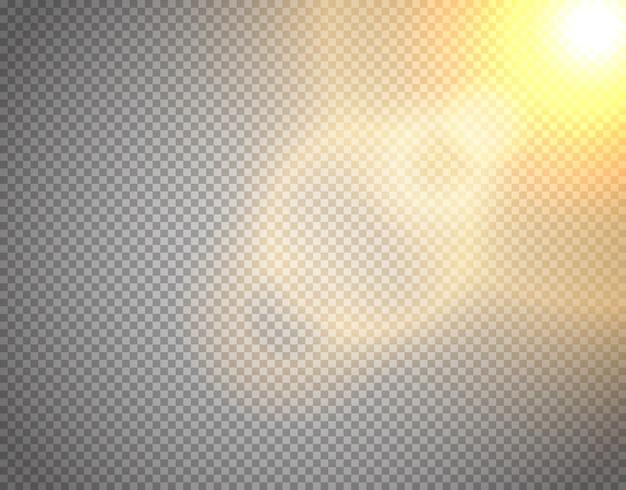 Sunshine vector effect geïsoleerd Premium Vector