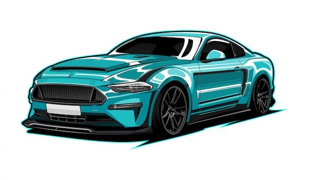 Super auto illustratie Premium Vector