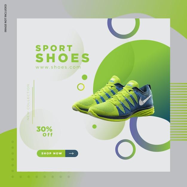 Super-de bannerontwerp van schoenen Premium Vector