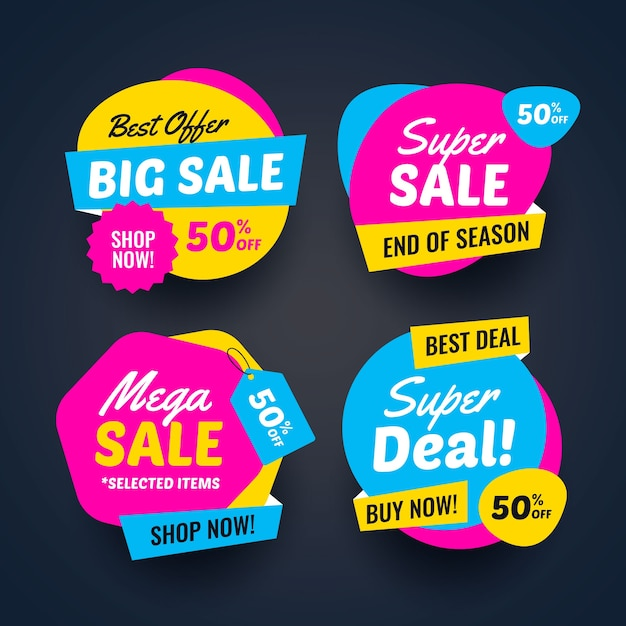 Super deal verkoop banners collectie Gratis Vector