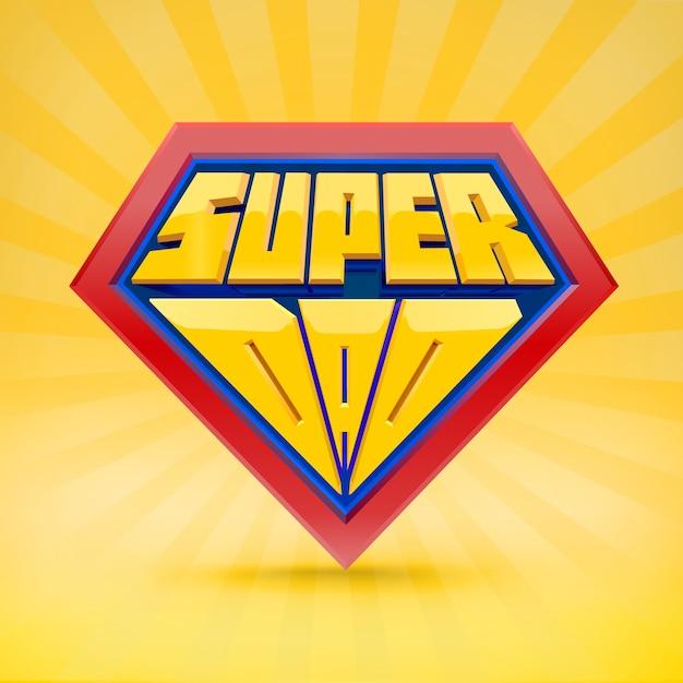 Super grootvader. opa logo. grootvaderdag concept. opa superheld. nationale grootouders dag. oudere mensen. leuke typografie. Premium Vector
