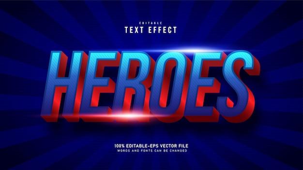 Super hero-teksteffect Gratis Vector