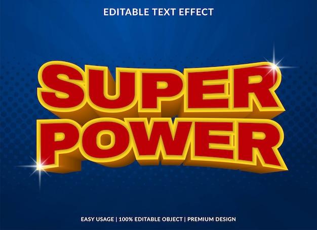 Super krachtig teksteffect Premium Vector