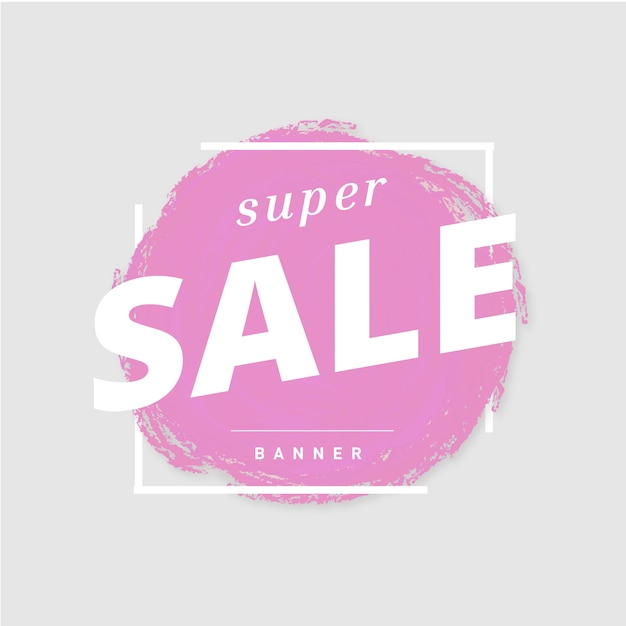 Super sale-banner Gratis Vector