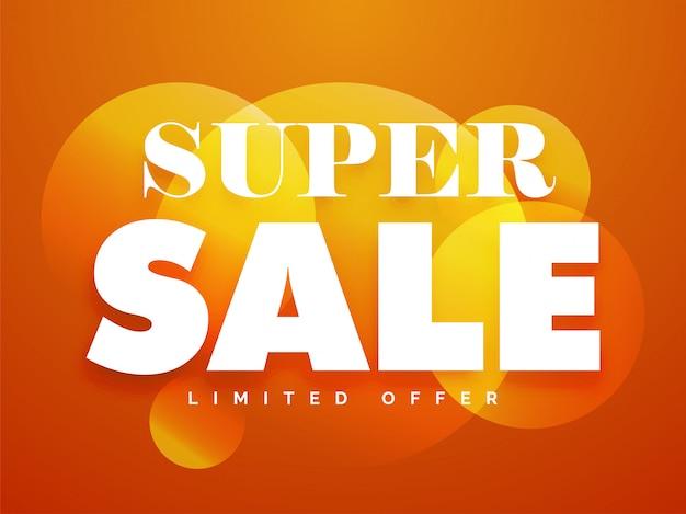 Super sale cirkelbanner Premium Vector