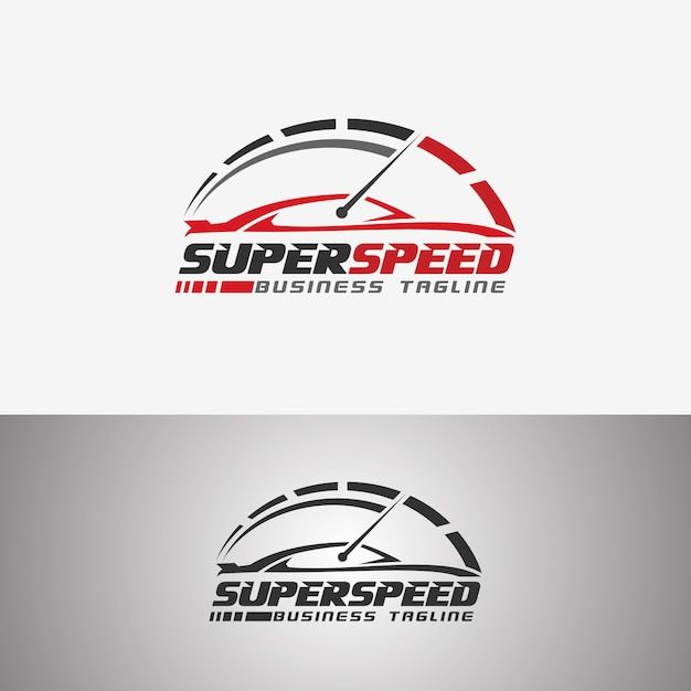Super speed ​​- raceauto-logo Premium Vector