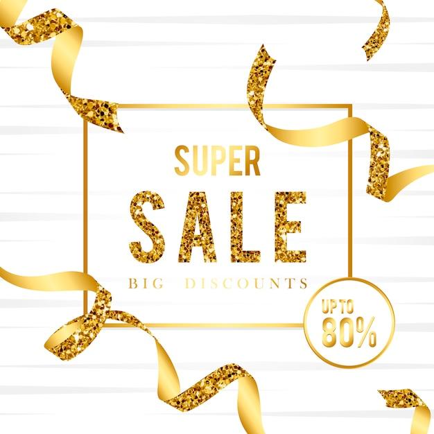 Super verkoop 80% korting teken vector Gratis Vector