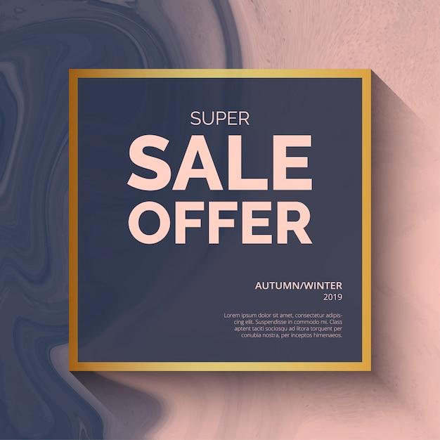 Super verkoop aanbieding achtergrondsjabloon Gratis Vector