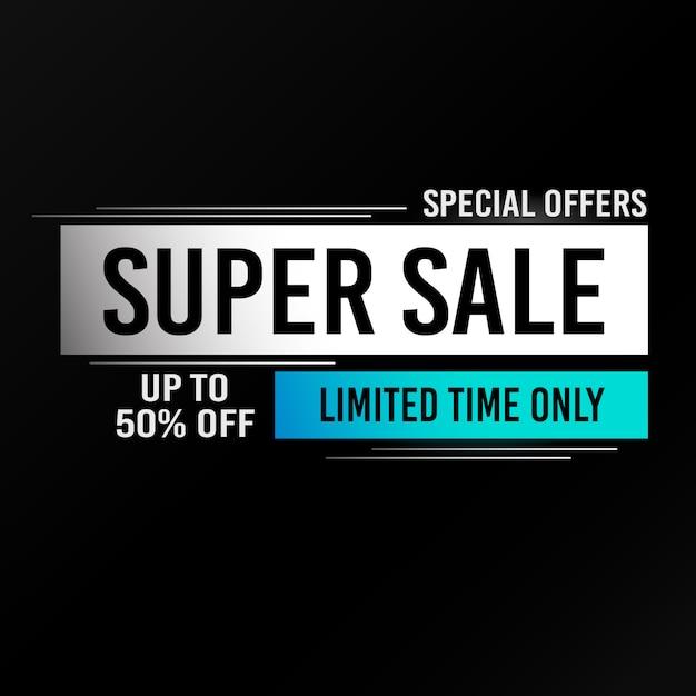 Super verkoop achtergrond Premium Vector