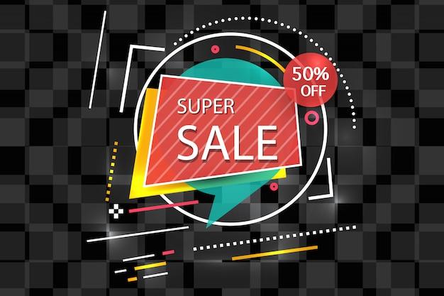 Super verkoop banner achtergrond Gratis Vector