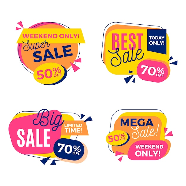 Super verkoop sjabloonontwerp spandoek Premium Vector