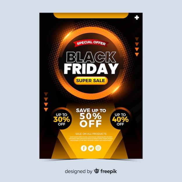 Super verkoop zwarte vrijdag banner Gratis Vector