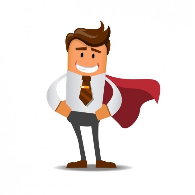 Super zakenman Gratis Vector