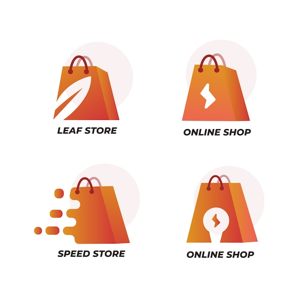 Supermarkt logo pack Gratis Vector