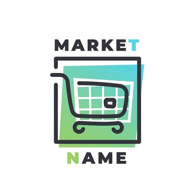 Supermarkt logo sjabloon Gratis Vector