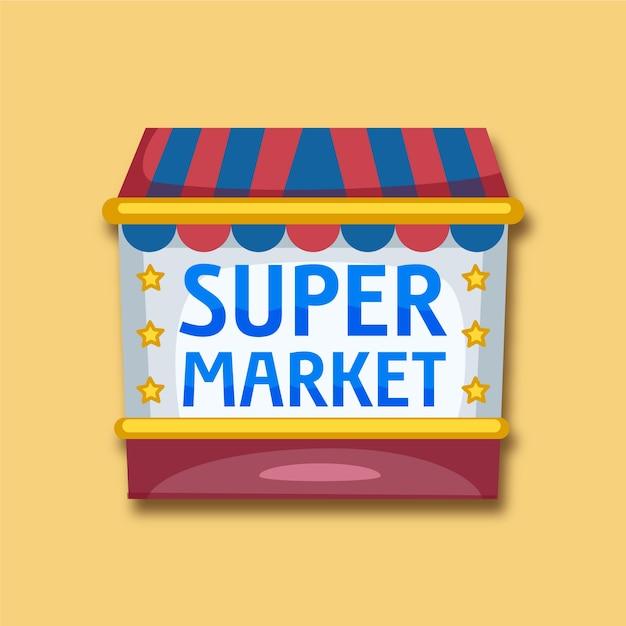 Supermarkt logo Gratis Vector