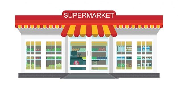 Supermarkt supermarkt Premium Vector