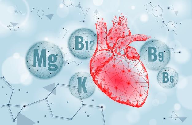Supplement voor cardiovasculaire zorg voor het hart Premium Vector