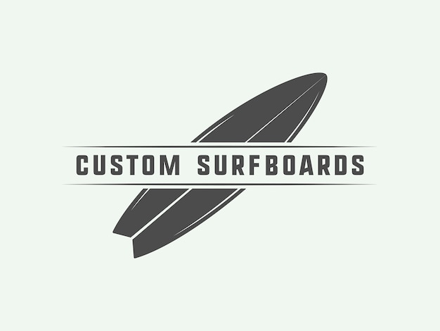 Surflogo, embleem Premium Vector