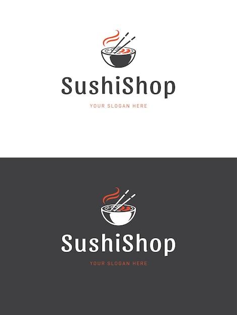 Sushi restaurant logo sjabloon illustratie Premium Vector