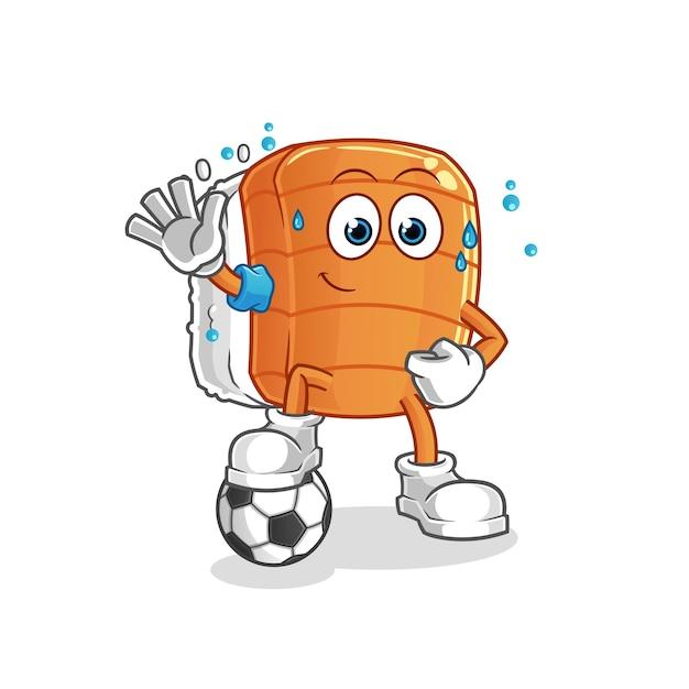 Sushi speelvoetbal illustratie. karakter Premium Vector