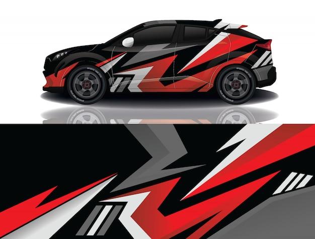 Suv auto sticker wrap illustratie Premium Vector