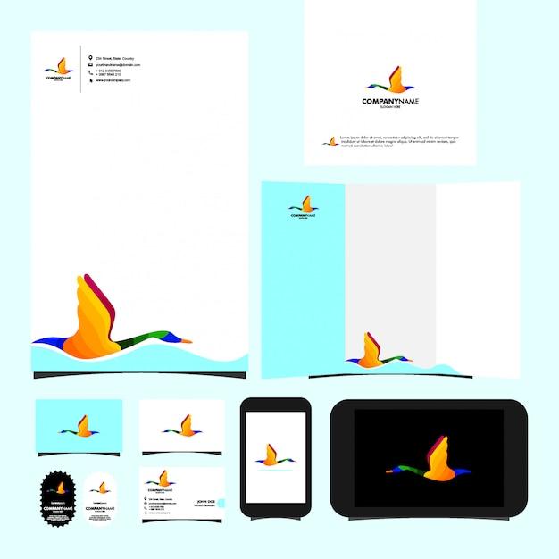 Swan logo template briefpapier Premium Vector