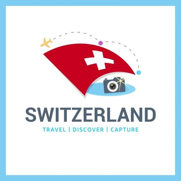 Switzerland travel logo Gratis Vector