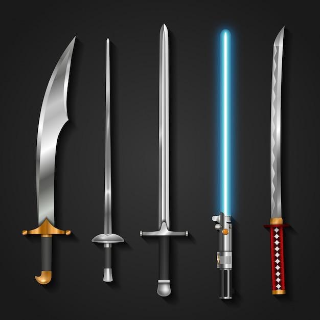 Swords Premium Vector