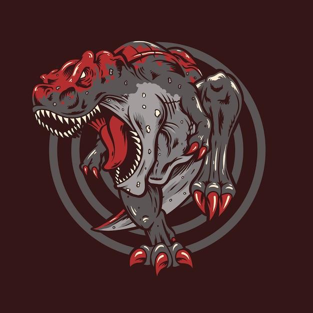 T rex illustratie Premium Vector