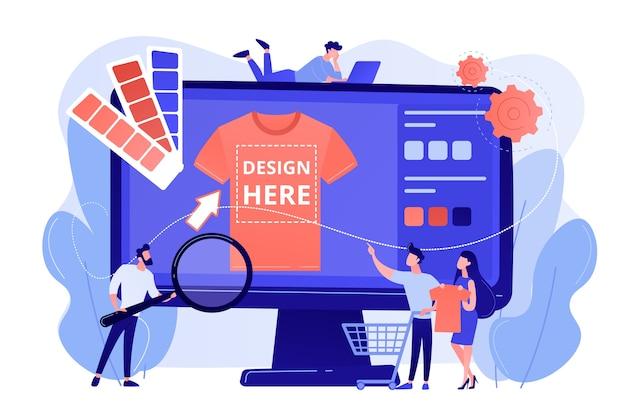 T-shirt afdrukken op aanvraag. promotiekleding ontwerp Gratis Vector