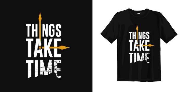 T-shirt design met naaldsymbool Premium Vector