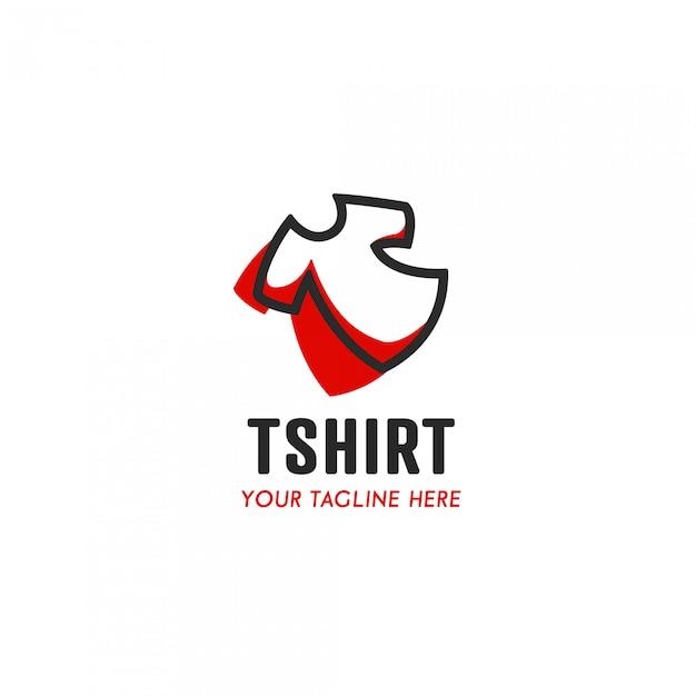 T-shirt maker logo met eenvoudig comfort comfortabel t-shirt pictogram symbool Premium Vector